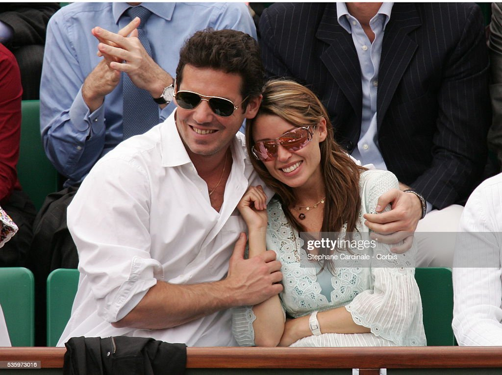 Dannii Minogue and her boyfriend Jeremy visit Roland Garros Village during the 2005 French Open tennis.
