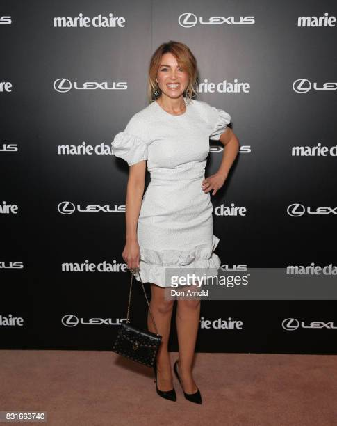 Dannii Minogue arrives ahead of the 2017 Prix de Marie Claire Awards on August 15 2017 in Sydney Australia
