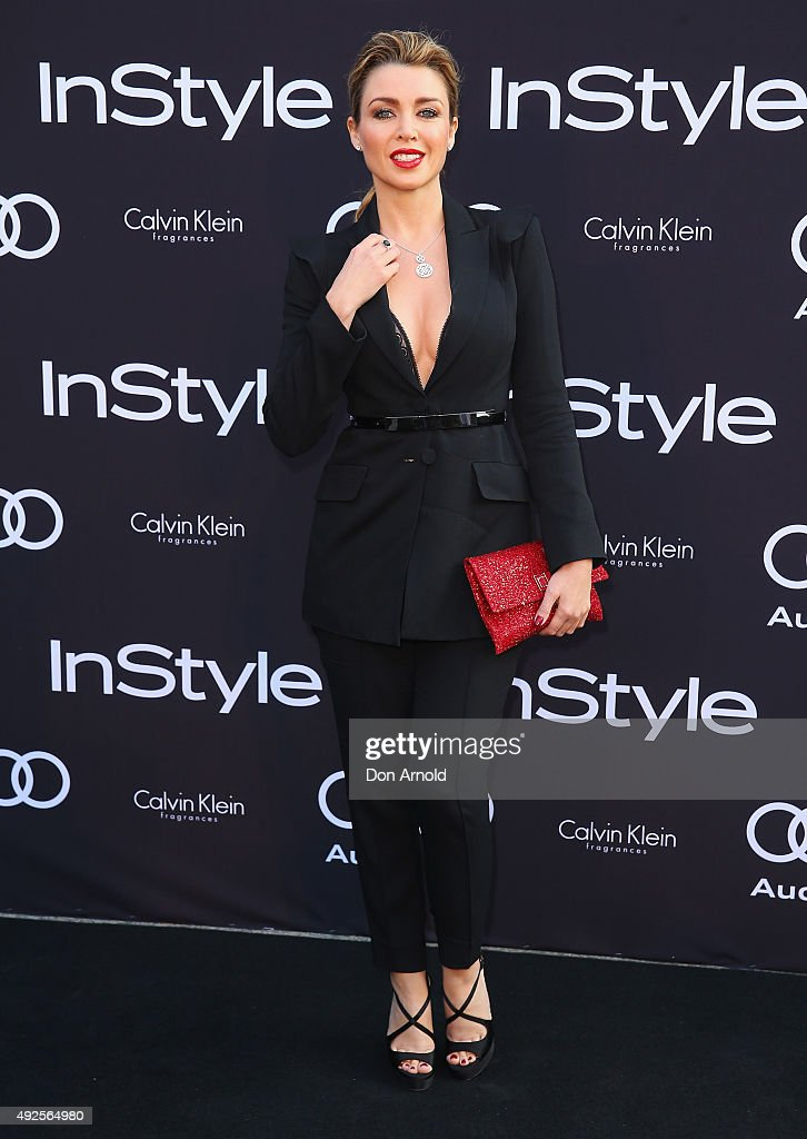 Dannii Minogue arrives ahead of the InStyle and Audi Man of Style Awards 2015 on October 14, 2015 in Sydney, Australia.