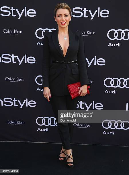 Dannii Minogue arrives ahead of the InStyle and Audi Man of Style Awards 2015 on October 14 2015 in Sydney Australia