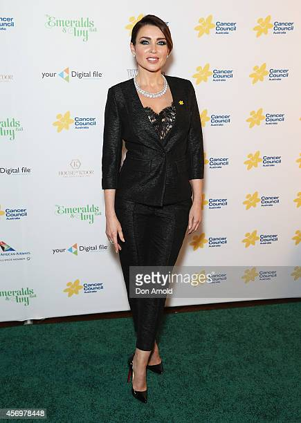 Dannii Minogue arrives at The Emeralds and Ivy Ball at Sydney Town Hall on October 10 2014 in Sydney Australia