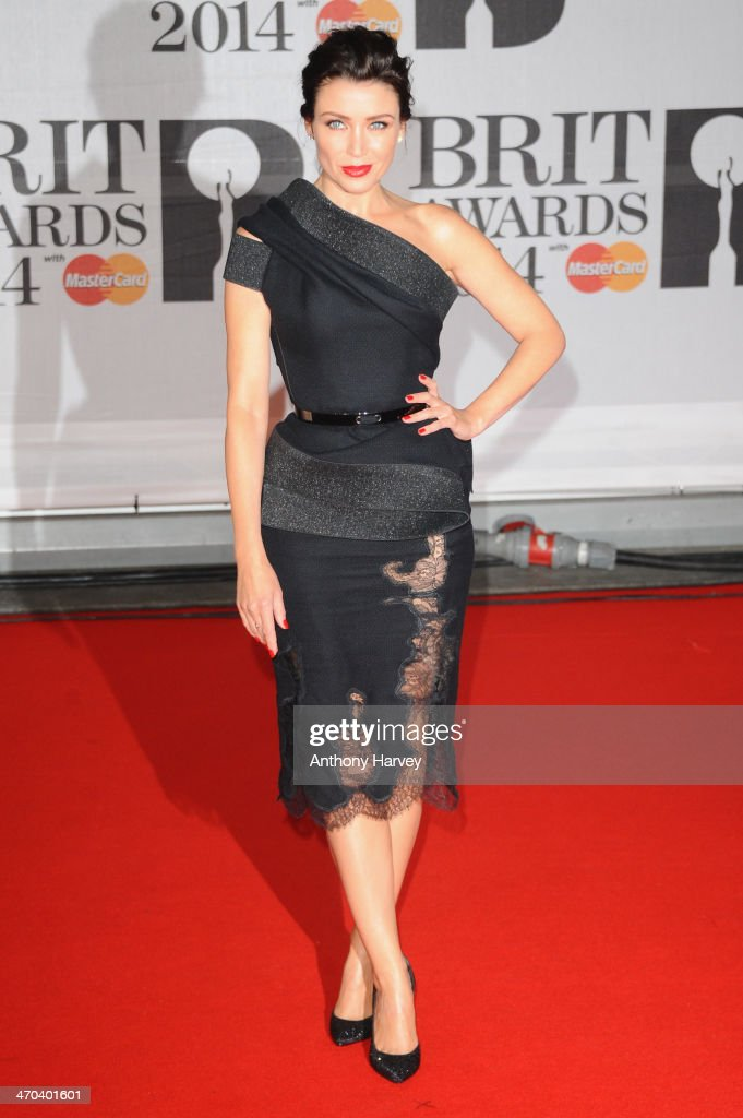 Dannii Minogue attends The BRIT Awards 2014 at 02 Arena on February 19, 2014 in London, England.