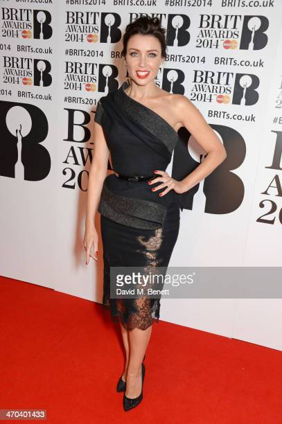 Dannii Minogue attends The BRIT Awards 2014 at the 02 Arena on February 19 2014 in London England
