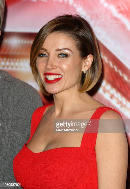 Dannii Minogue attends the press conference ahead of the XFactor final at The Connaught Hotel on December 9 2010 in London England