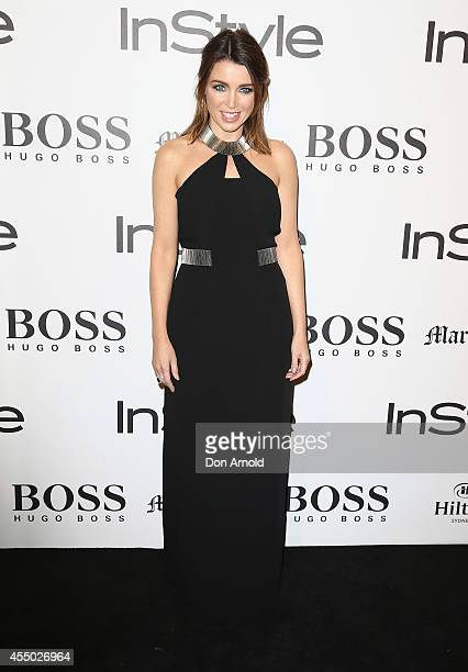 Dannii Minogue poses during the InStyle and Hugo Boss Men of Style Cocktail Party at Hilton Hotel on September 9 2014 in Sydney Australia