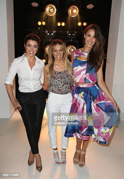 Dannii Minogue Samantha Jade and Rachael Finch attend the Target show during MercedesBenz Fashion Festival Sydney at Sydney Town Hall on September 27...