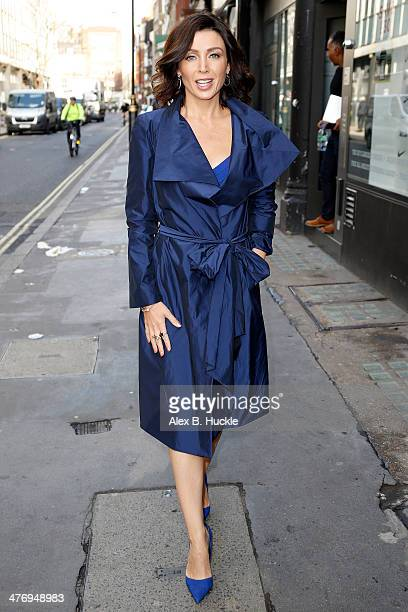 Dannii Minogue sighted arriving at an ebay press launch at ROOK RAVEN Rathbone Place on March 6 2014 in London England