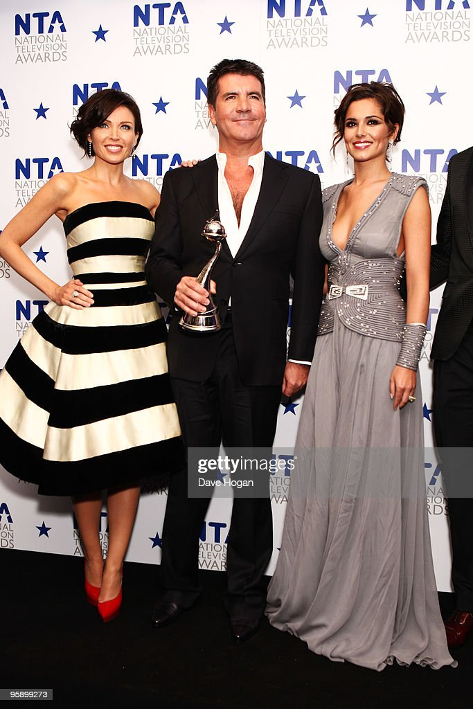 L-R Dannii Minogue, Simon Cowell and Cheryl Cole pose with the most popular talent show award awarded to X Factor in the press room at the National Television Awards held the at The O2 Arena on January 20, 2010 in London, England.