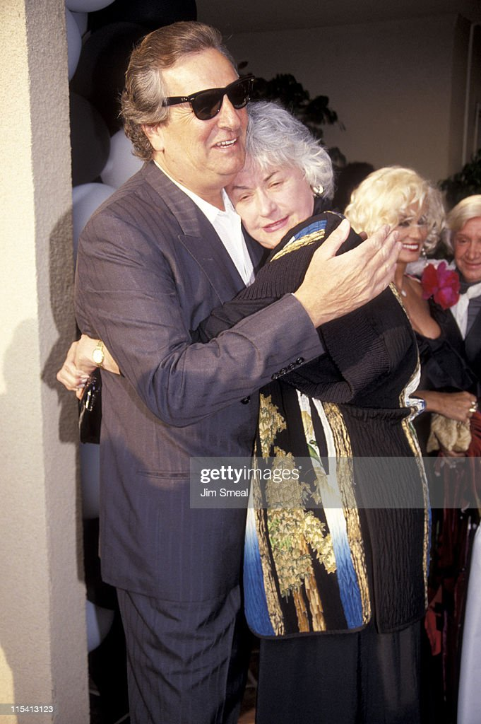 Danny Aiello and Bea Arthur during Benefit Fundraiser for John Gary at Bel Age Hotel in West Hollywood, California, United States.