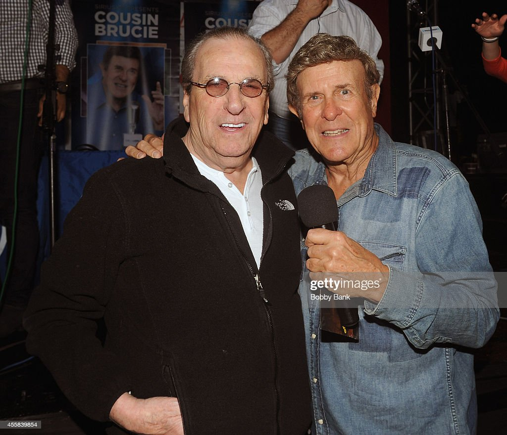 Danny Aiello and Bruce 'Cousin Brucie' Morrow attends the SiriusXM's Cousin Brucie Live at San Gennaro Feast on September 20 2014 in New York City