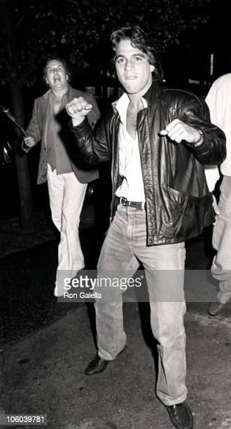 Danny Aiello and Tony Danza during Danny Aiello and Tony Danza Sighted at Elaine's Restaurant June 27 1985 at Elaine's Restaurant in New York City...