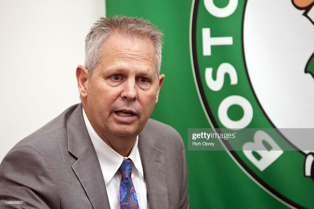 Danny Ainge, Celtics President of Basketball Operations, speaks at a press conference in Portland, Maine on June 21, 2012 announcing that the Celtics and Red Claws have entered into a single affiliation partnership beginning with the upcoming 2012-2013 NBA D-League season. Making the announcement at the headquarters of the Maine Red Claws in downtown Portland were Danny Ainge, Celtics President of Basketball Operations, Dan Reed, President of the NBA D-League, and Bill Ryan, Jr., Team Chairman of the Maine Red Claws.