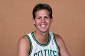 Danny Ainge of the Boston Celtics poses for a portrait in 1989 at the Boston Garden in Boston Massachusetts NOTE TO USER User expressly acknowledges...