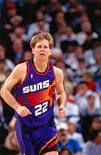 Danny Ainge of the Phoenix Suns runs against the Sacramento Kings circa 1993 at Arco Arena in Sacramento California NOTE TO USER User expressly...