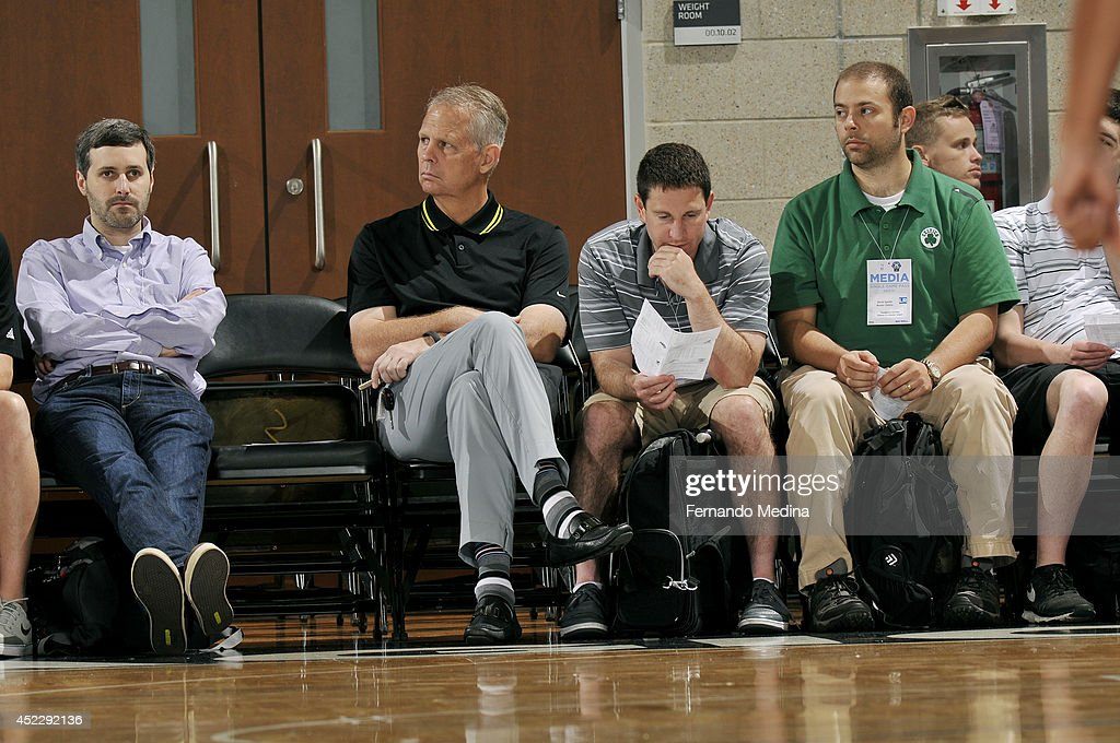 Danny Ainge President of Basketball Operations for the Boston Celtics attends a game with the Brooklyn Nets against the Indiana Pacers during the Samsung NBA Summer League 2014 on July 5, 2014 at Amway Center in Orlando, Florida.