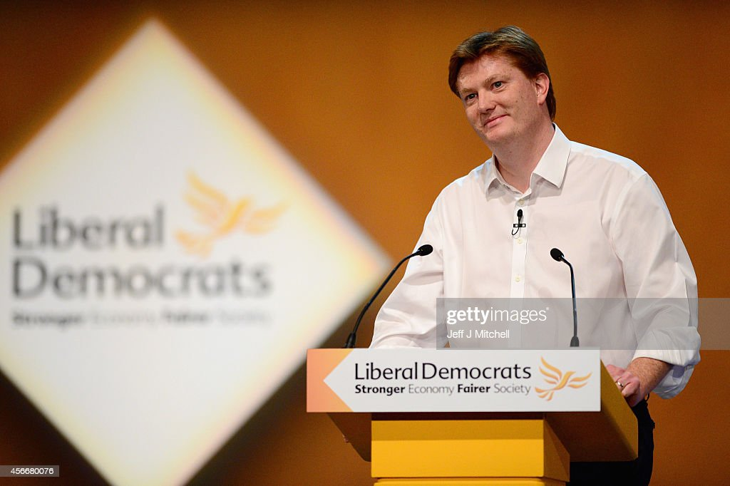 Danny Alexander Chief Secretary to the Treasury addresses the Liberal Democrat Autumn conference on October 5, 2014 in Glasgow, Scotland. Liberal Democrat activists and supporters started gathering in the city yesterday for their final conference before the general election.