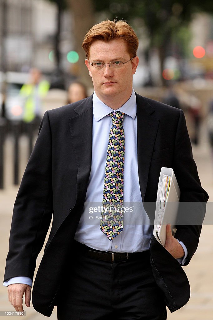 Danny Alexander MP Chief Secretary to the Treasury arrives at the Cabinet Office on August 17 2010 in London England Despite inflation rising faster...