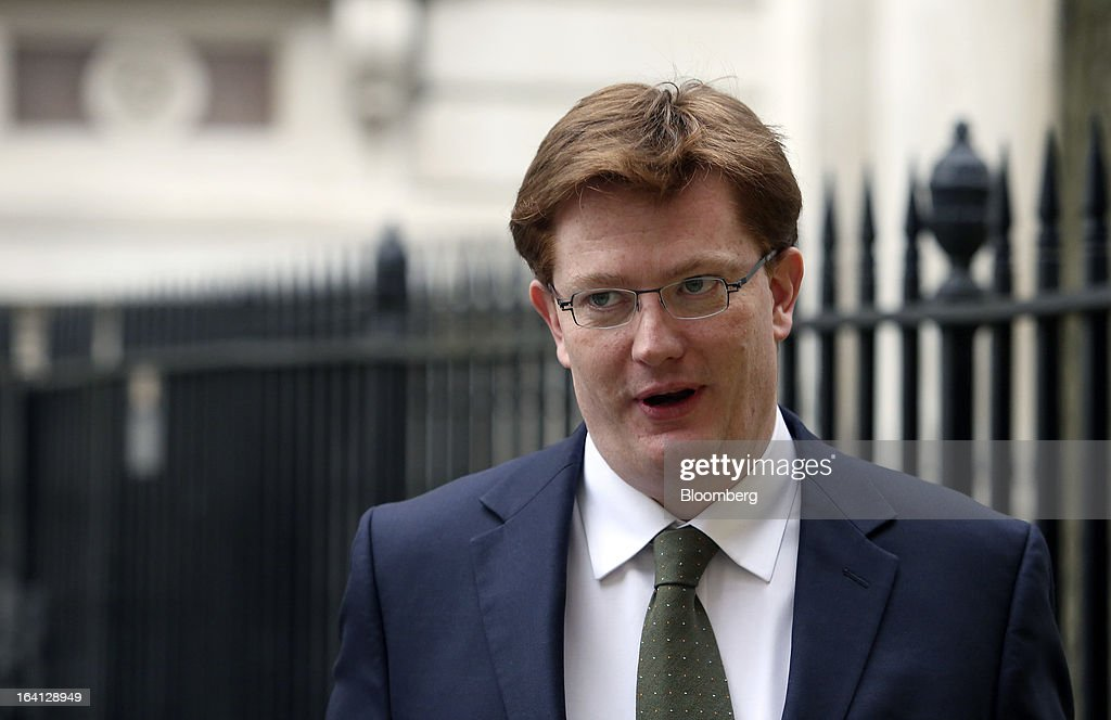 Danny Alexander, U.K. chief secretary to the treasury, leaves Downing Street in London, U.K., on Wednesday, March 20, 2013. Chancellor of the Exchequer George Osborne promised another austere budget as calls to stimulate the U.K. economy became more muted, easing political pressure on the government. Photographer: Chris Ratcliffe/Bloomberg via Getty Images
