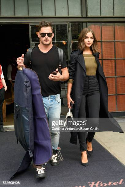 Danny Amendola and Olivia Culpo are seen on May 01 2017 in New York City