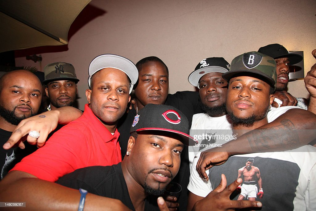 Danny and <a gi-track='captionPersonalityLinkClicked' href=/galleries/search?phrase=Jadakiss&family=editorial&specificpeople=224058 ng-click='$event.stopPropagation()'>Jadakiss</a> (C) and guests attend Danny's Birthday Bash hosted by <a gi-track='captionPersonalityLinkClicked' href=/galleries/search?phrase=Jadakiss&family=editorial&specificpeople=224058 ng-click='$event.stopPropagation()'>Jadakiss</a> at the Harlem Beach Club on July 25, 2012 in New York City.