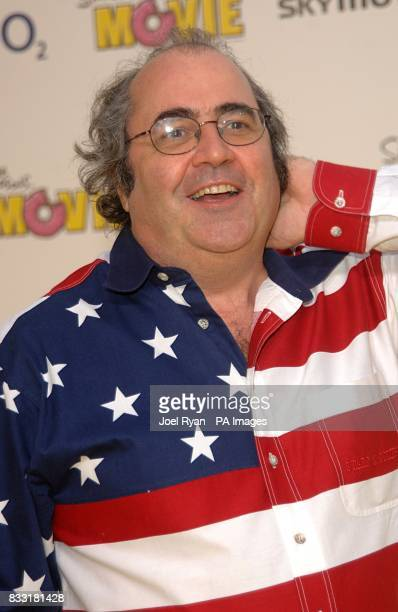 Danny Baker arrives for the UK Premiere of The Simpsons Movie at the Vue Cinema The O2 Peninsula Square London