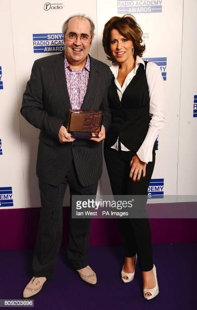 Danny Baker with the award for Speech Radio Personality presented by Natasha Kaplinsky at the Sony Radio Academy Awards 2011 at the Grosvenor House...