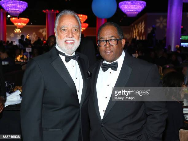 Danny Bakewell and Mark Ridley Thomas attend the 49th Annual Pioneer of African American Achievement Award dinner at The Beverly Hilton Hotel on...