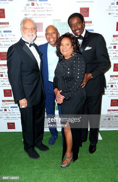 Danny Bakewell Sr Jeffrey Osborne Jim Hill and Charisse BremondWeaver attend the 49th Annual Pioneer of African American Achievement Award dinner at...