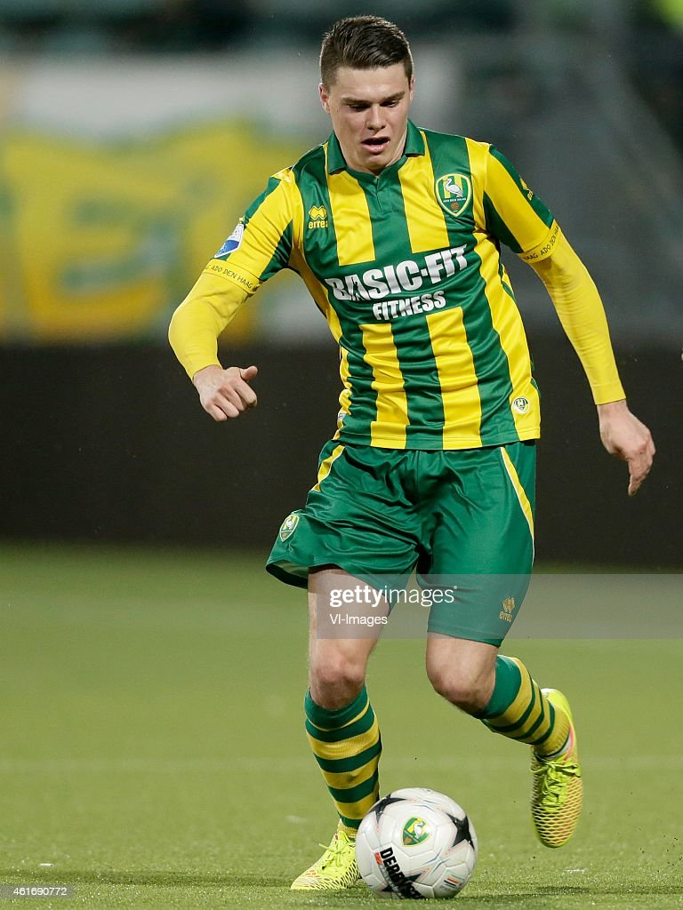 Danny Bakker of ADO Den Haag during the Dutch Eredivisie match between ADO Den Haag and SC Cambuur Leeuwarden at Kyocera stadium on January 17 2015...
