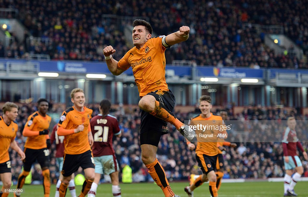 Danny Batth of Wolverhampton Wanderers celebrates after scoring a goal to make it 11during the Sky Bet Championship match between Burnley and...