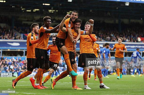 Danny Batth of Wolverhampton Wanderers celebrates after scoring a goal to make it 12 during the Sky Bet Championship fixture between Birmingham City...