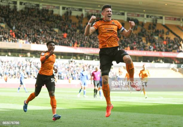 Danny Batth of Wolverhampton Wanderers celebrates after scoring a goal to make it 21 during the Sky Bet Championship match between Wolverhampton...