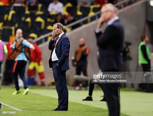 Danny Blind head coach of Netherlands during the FIFA World Cup Qualifier between Sweden and Netherlands at Friends arena on September 6 2016 in...