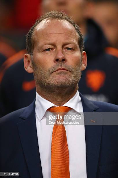 Danny Blind manager of the Netherlands looks on prior to the international friendly match between Netherlands and Belgium at Amsterdam Arena on...