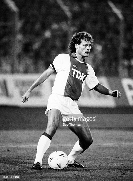 Danny Blind of Ajax Amsterdam in action against FC Porto during the Amsterdam Tournament on 9th August 1987 The match ended in a 11 draw