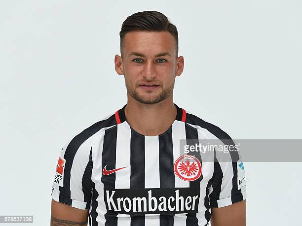 Danny Blum poses during the Eintracht Frankfurt Team Presentation on July 21 2016 in Frankfurt am Main Germany