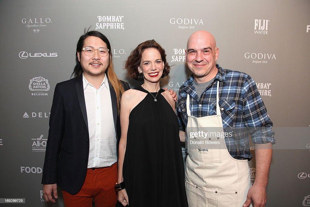 Danny Bowen, Dana Cowin and Michael Symon attend The FOOD & WINE 2013 Best New Chefs Party at Pranna Restaurant on April 5, 2013 in New York City.