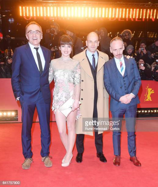 Danny Boyle Anjela Nedyalkova Johnny Lee Miller and Ewen Bremner attend the 'T2 Trainspotting' premiere during the 67th Berlinale International Film...