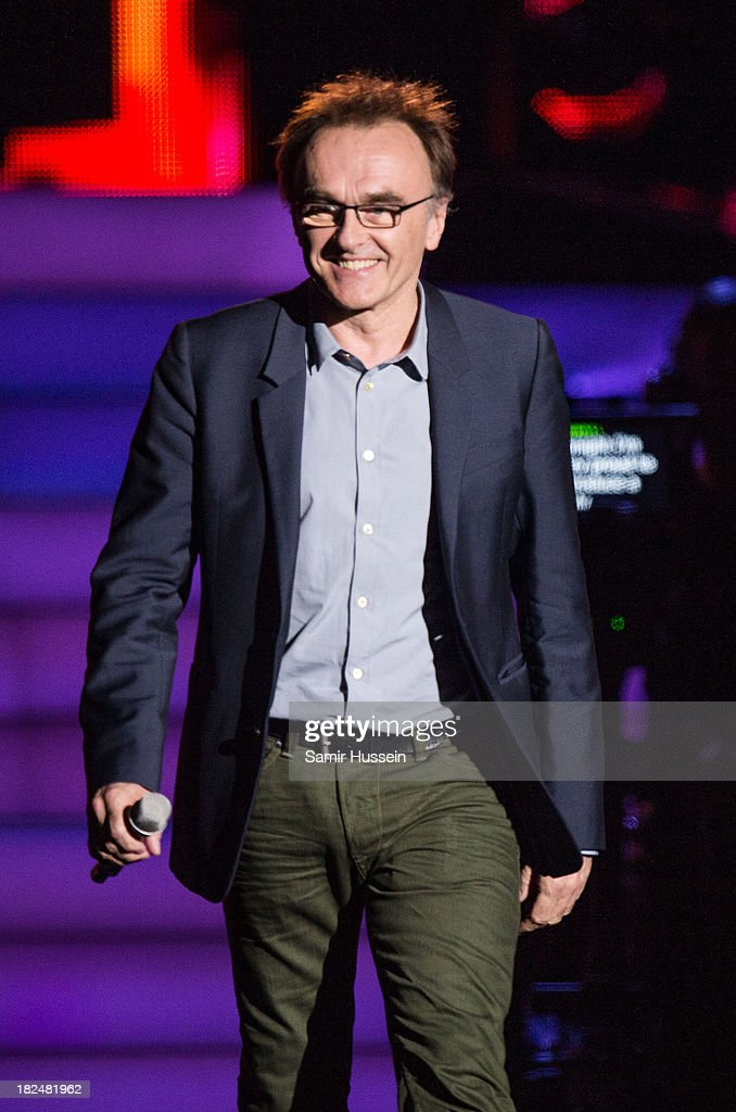 Danny Boyle appears live on stage at the Unity concert in memory of Stephen Lawrence at O2 Arena on September 29, 2013 in London, England.