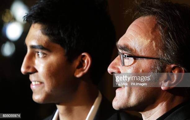 Danny Boyle director of Slumdog Millionaire with its star Dev Patel at The London Critics' Circle Film Awards at Grosvenor House Hotel in central...