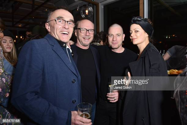 Danny Boyle Paul Haggis Camilla Staerk and Ewan McGregor attend TriStar Pictures The Cinema Society with 19 Crimes Host the After Party for 'T2...