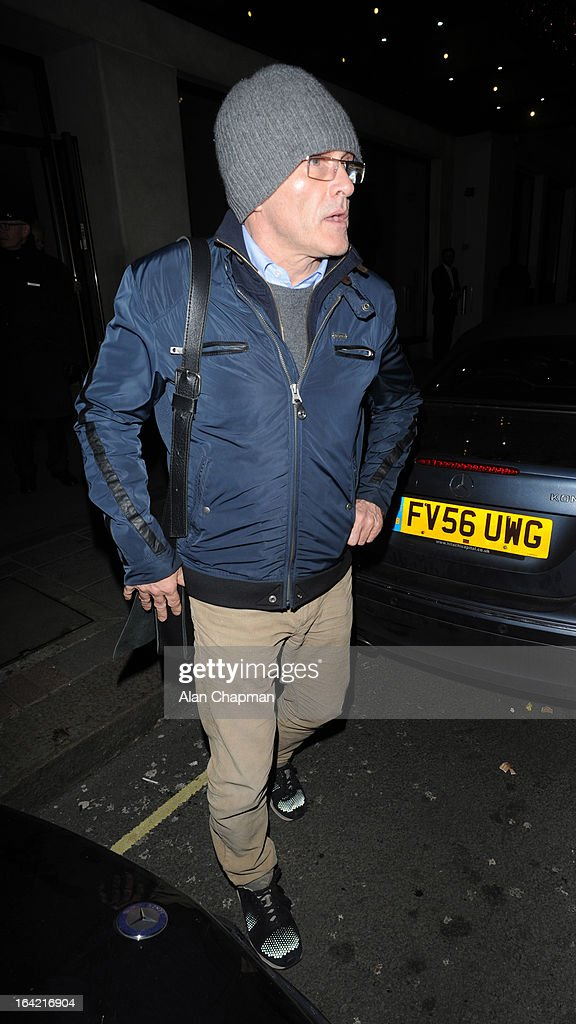 Danny Boyle sighting leaving the Mayfair Hotel on March 20, 2013 in London, England.