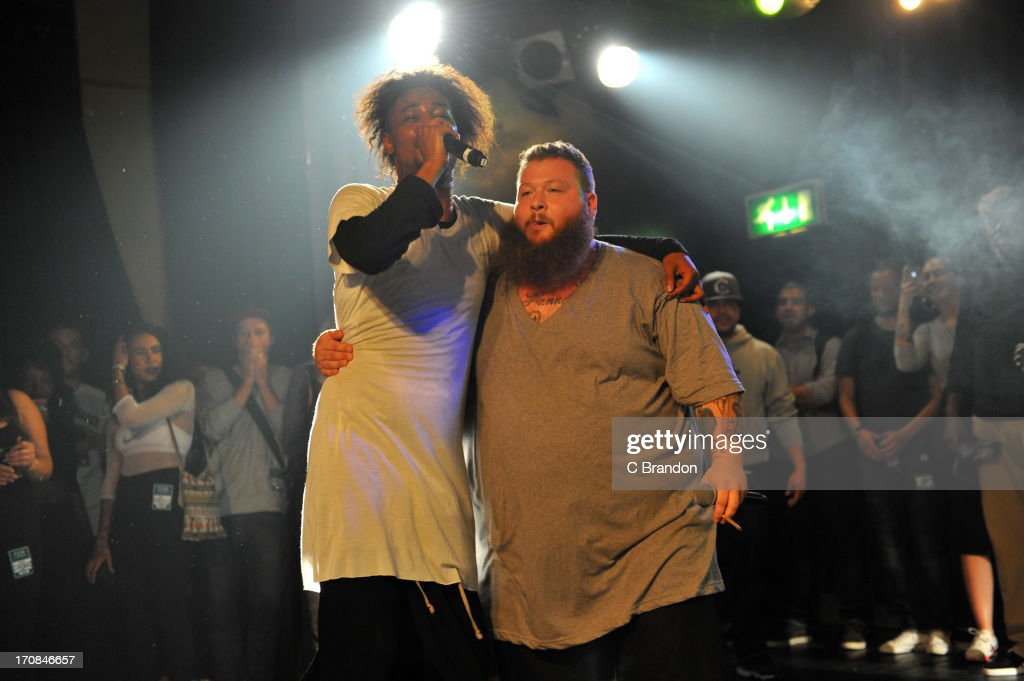 Danny Brown and Action Bronson perform on stage at Scala on June 11, 2013 in London, England.