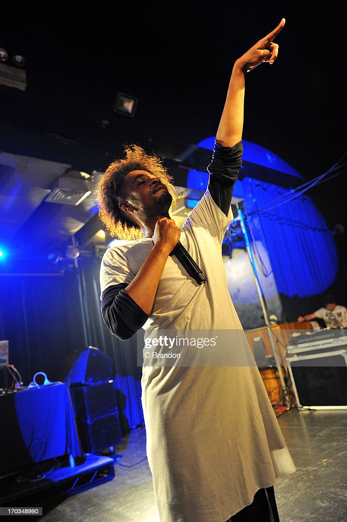 Danny Brown performs on stage at Scala on June 11, 2013 in London, England.