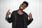 Danny Brown poses for a portrait backstage during the 2014 Pitchfork Music Festival at Union Park on July 19 2014 in Chicago Illinois