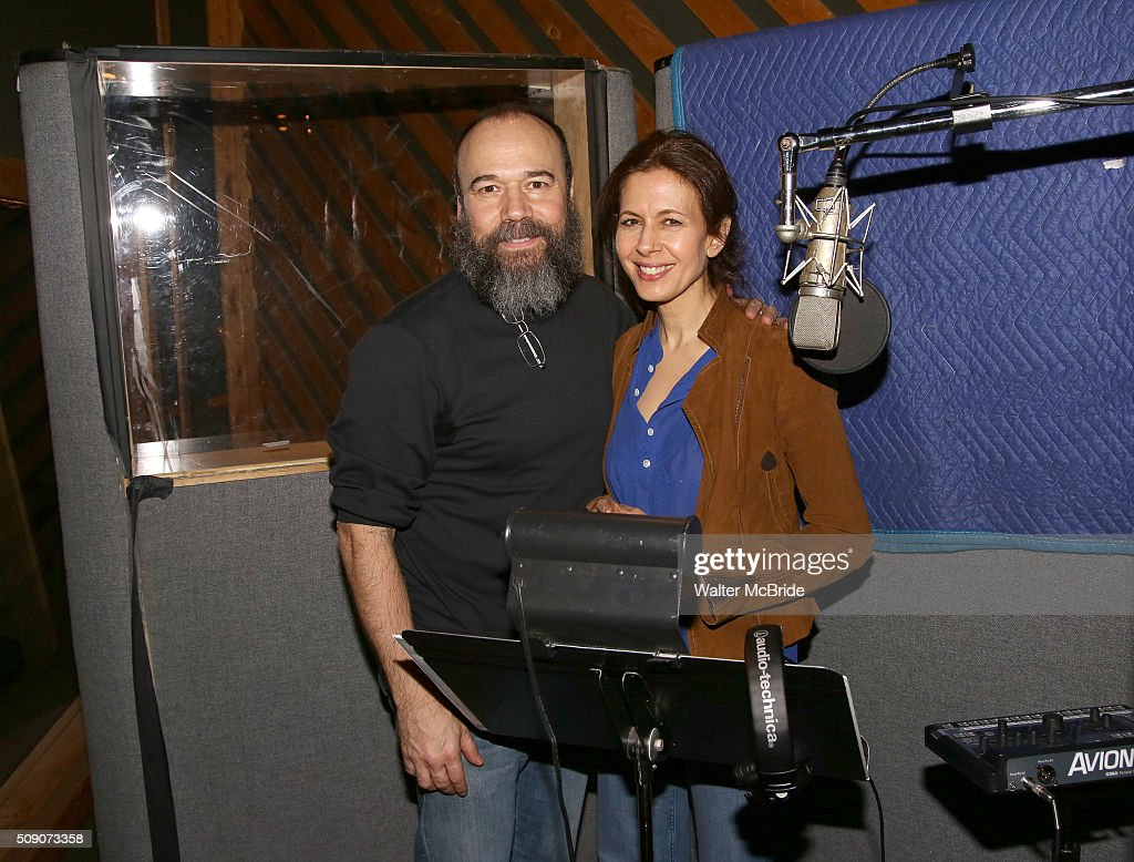 <a gi-track='captionPersonalityLinkClicked' href=/galleries/search?phrase=Danny+Burstein&family=editorial&specificpeople=572474 ng-click='$event.stopPropagation()'>Danny Burstein</a> and <a gi-track='captionPersonalityLinkClicked' href=/galleries/search?phrase=Jessica+Hecht&family=editorial&specificpeople=229028 ng-click='$event.stopPropagation()'>Jessica Hecht</a> during the Broadway Cast Recording of 'Fiddler on the Roof' at MSR Studios in Times Square on February 8, 2016 in New York City.