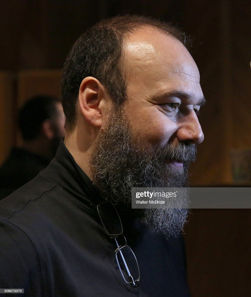 <a gi-track='captionPersonalityLinkClicked' href=/galleries/search?phrase=Danny+Burstein&family=editorial&specificpeople=572474 ng-click='$event.stopPropagation()'>Danny Burstein</a> during the Broadway Cast Recording of 'Fiddler on the Roof' at MSR Studios in Times Square on February 8, 2016 in New York City.