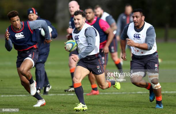 Danny Care of England runs with the ball during an England Training Session at St Edward's School on March 1 2017 in Oxford England