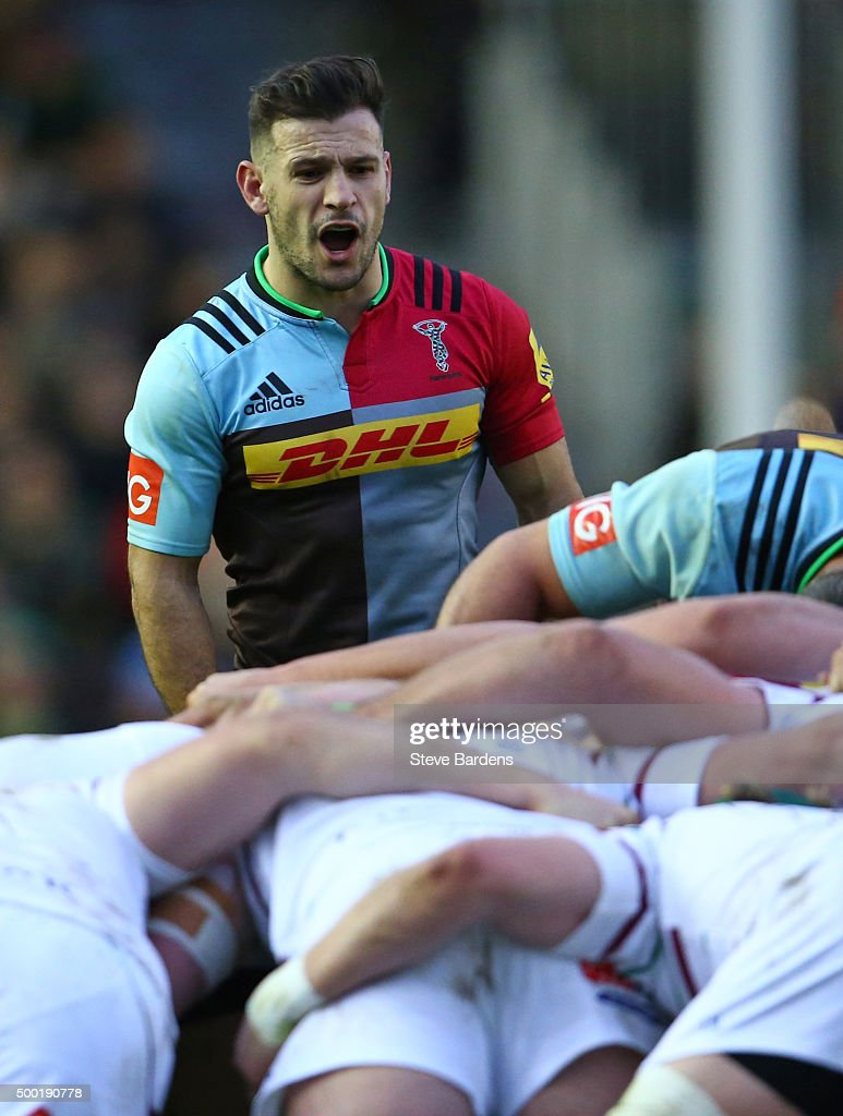 Danny Care of Harlequins during the Aviva Premiership match between Harlequins and London Irish at Twickenham Stoop on December 5 2015 in London...