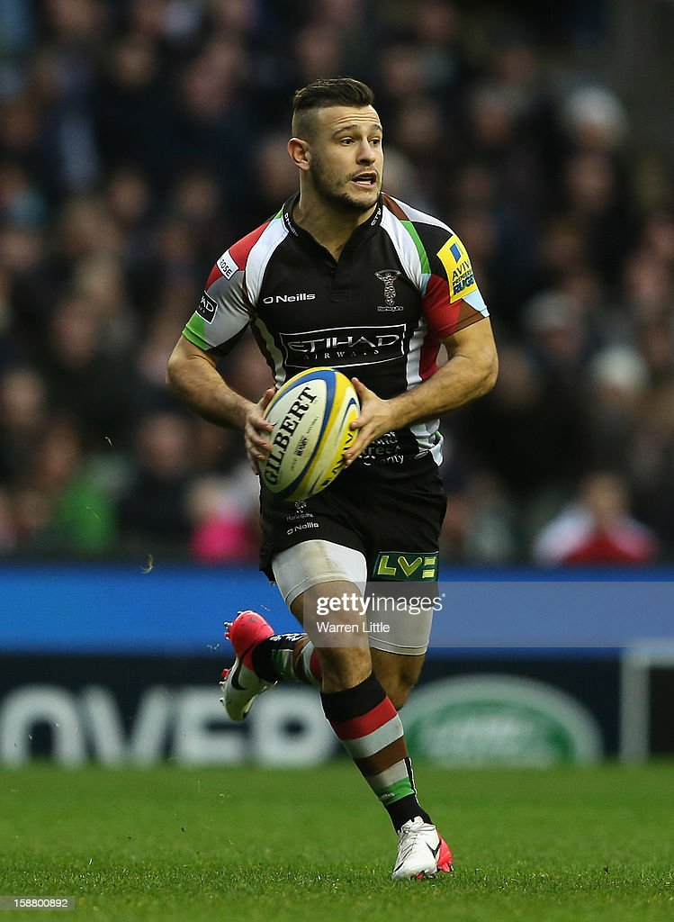 Danny Care of Harlequins in action during the Aviva Premiership match between Harlequins and London Irish at Twickenham Stadium on December 29, 2012 in London, England.